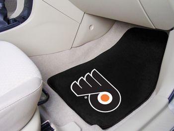 "NHL - Philadelphia Flyers 2-pc Carpet Car Mat Set 17"""" X 27"""""