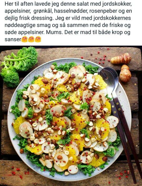 Jordskok appelsin salat