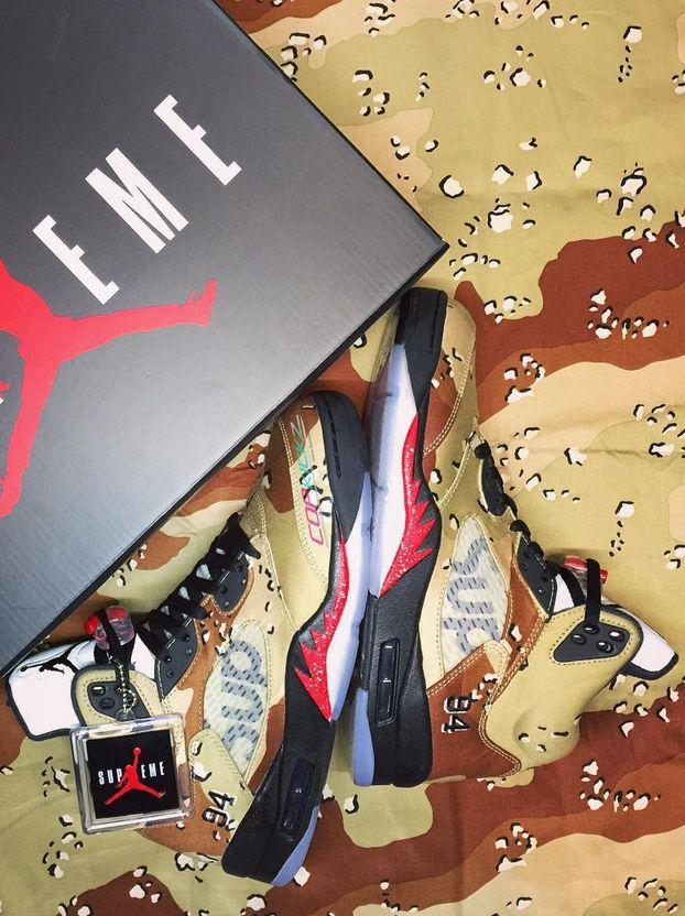 eae3bfe3bbd0 Supreme x Air Jordan 5 Pinterest   marmstrongrock