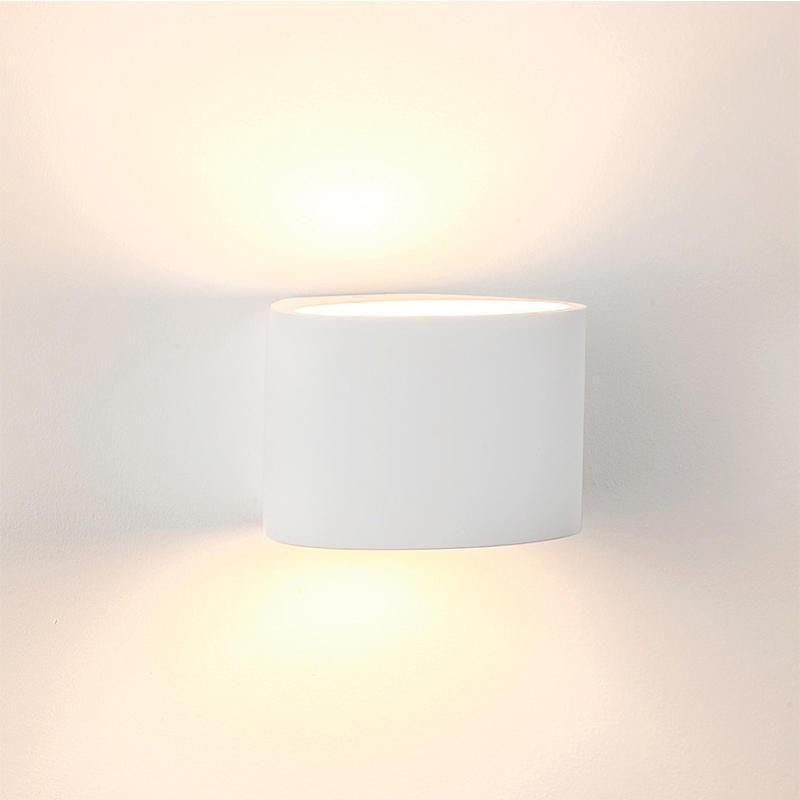 Arc Wall Light Small Led Plaster White Ip20 3w Havit