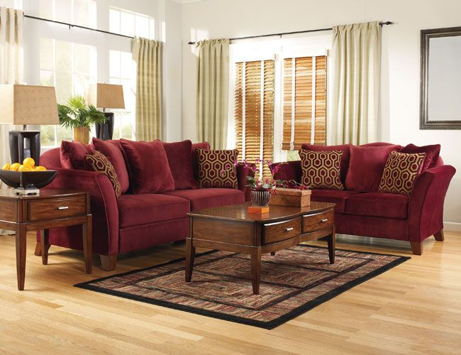 Burgundy and Gold Living Room - LoveToKnow: Advice women ...