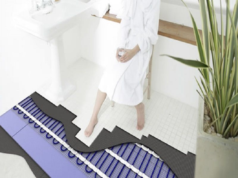 Bathroom Floor Heating Electric, Heated Floor Tile, Easy Heat Warm Tiles ~  Home Design