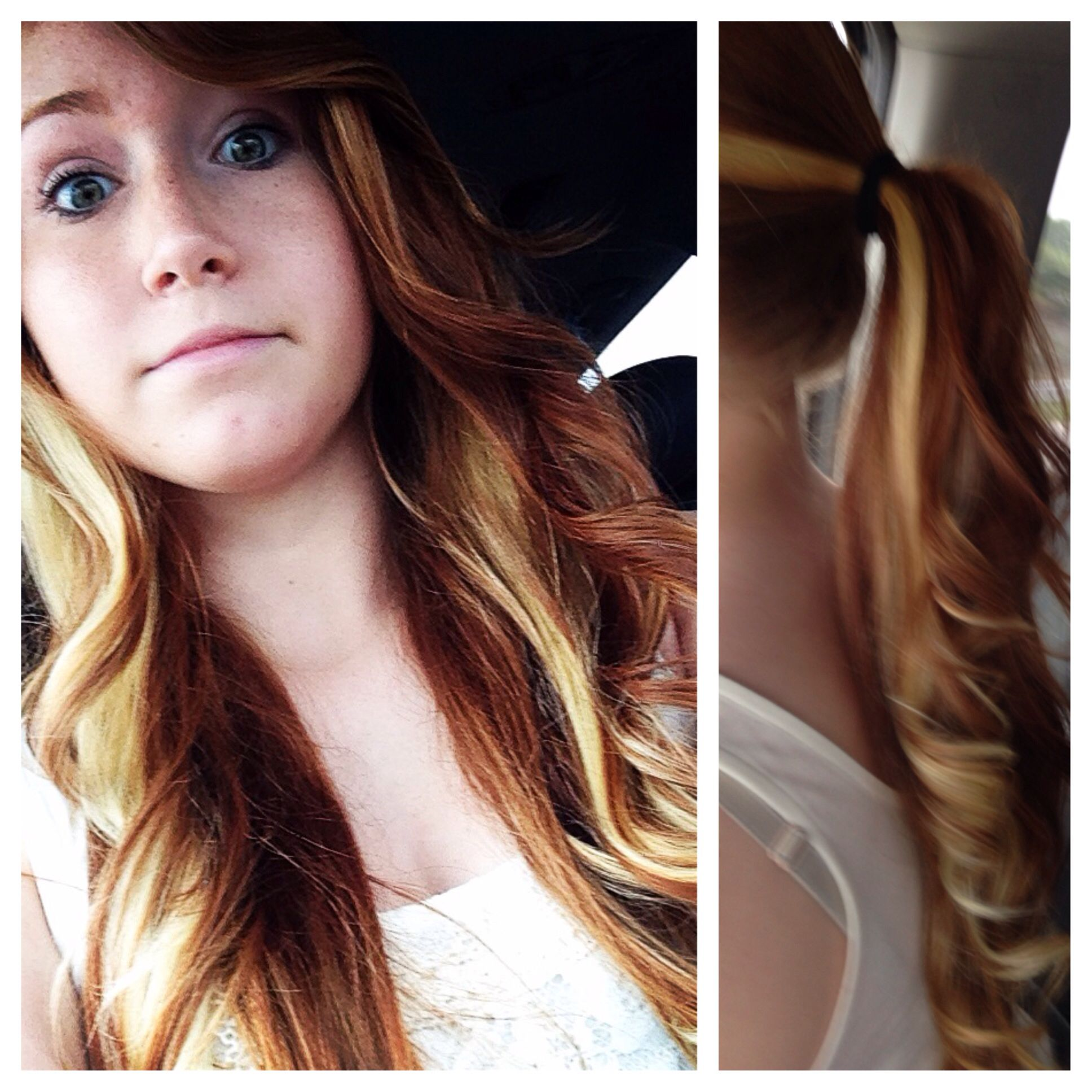 In Honor Of Cassadee Pope Virgin Red Hair With Added Blonde
