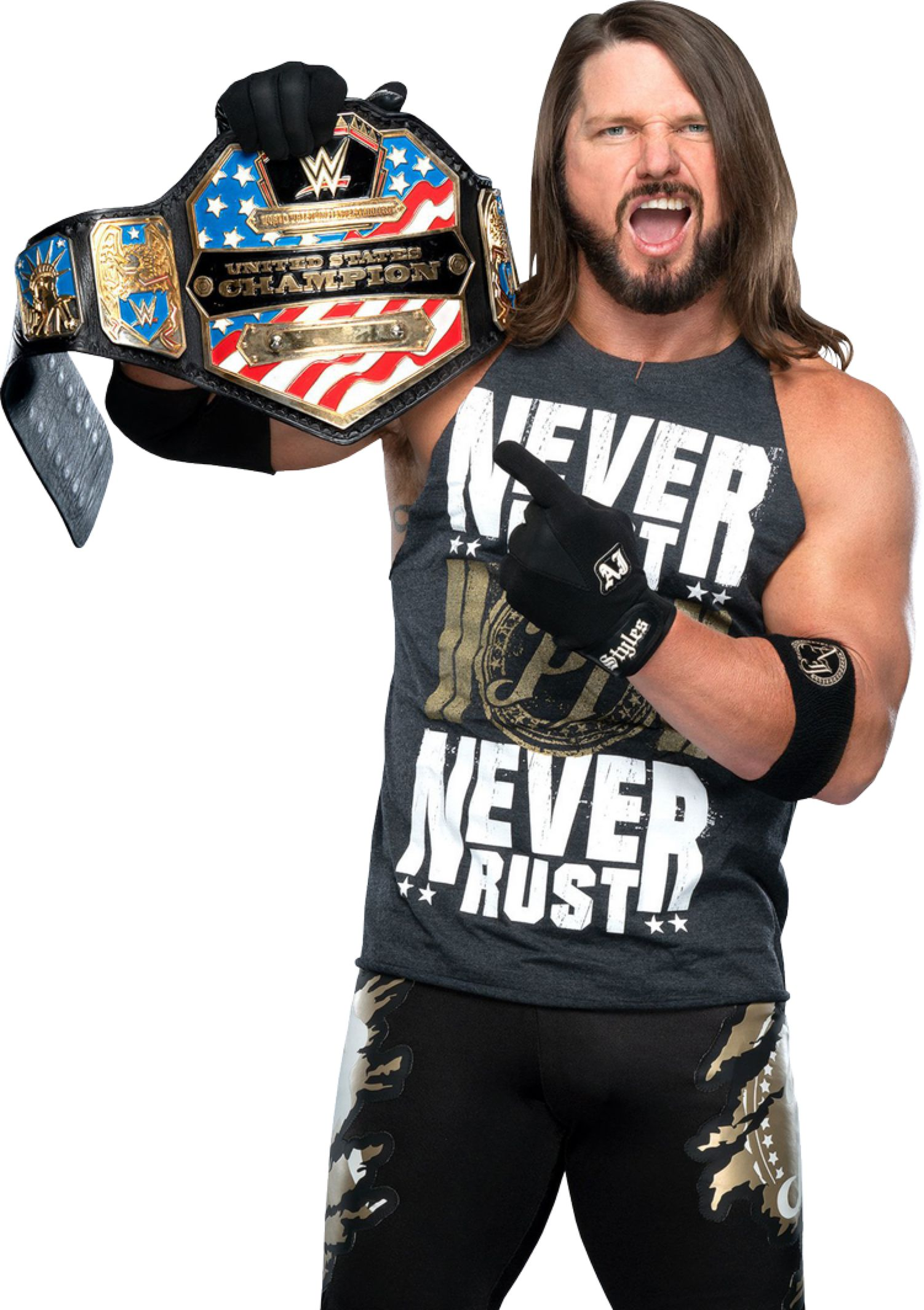Aj Styles 2019 New Us Champ Png By Ambriegnsasylum16 On Deviantart Aj Styles Champs New Uses