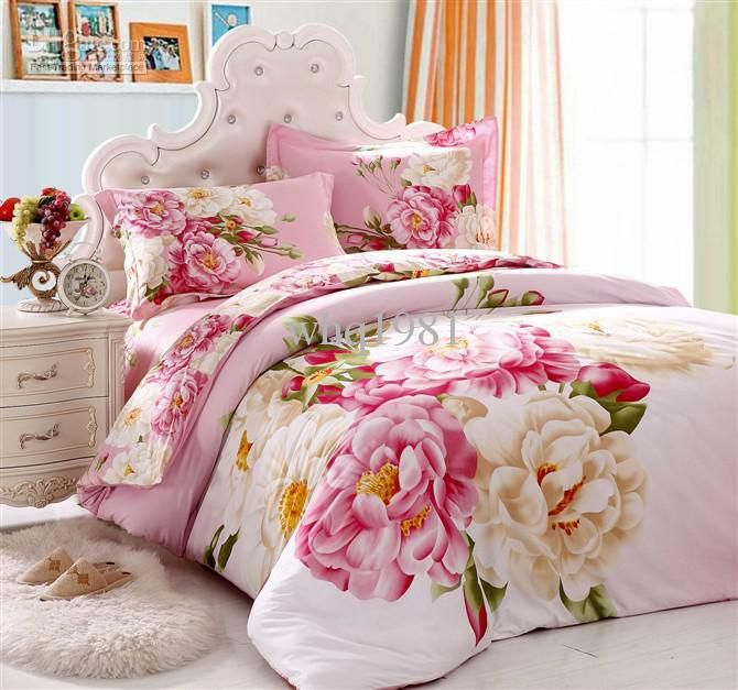 Cheap Comforter Bedding Best Pink Flower Girls Bedding Set Queen