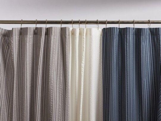 Seersucker Shower Curtain Shower Curtains Bath Coyuchi