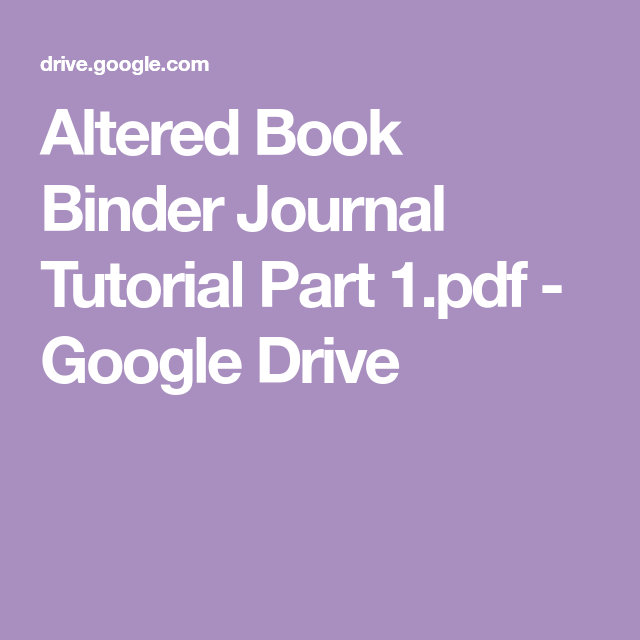 Altered Book Binder Journal Tutorial Part 1.pdf