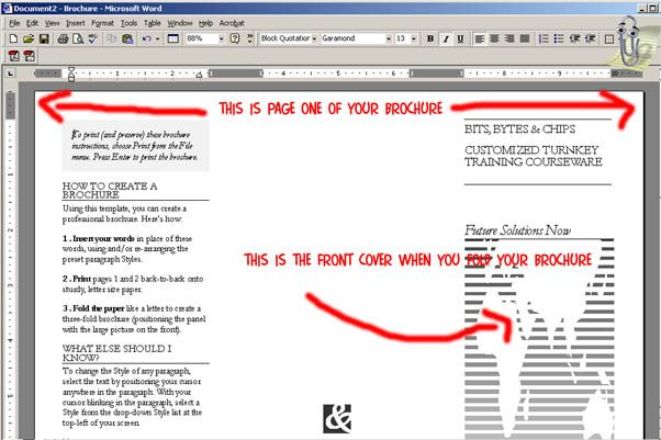 How To Make A Brochure On Word Microsoft 2010