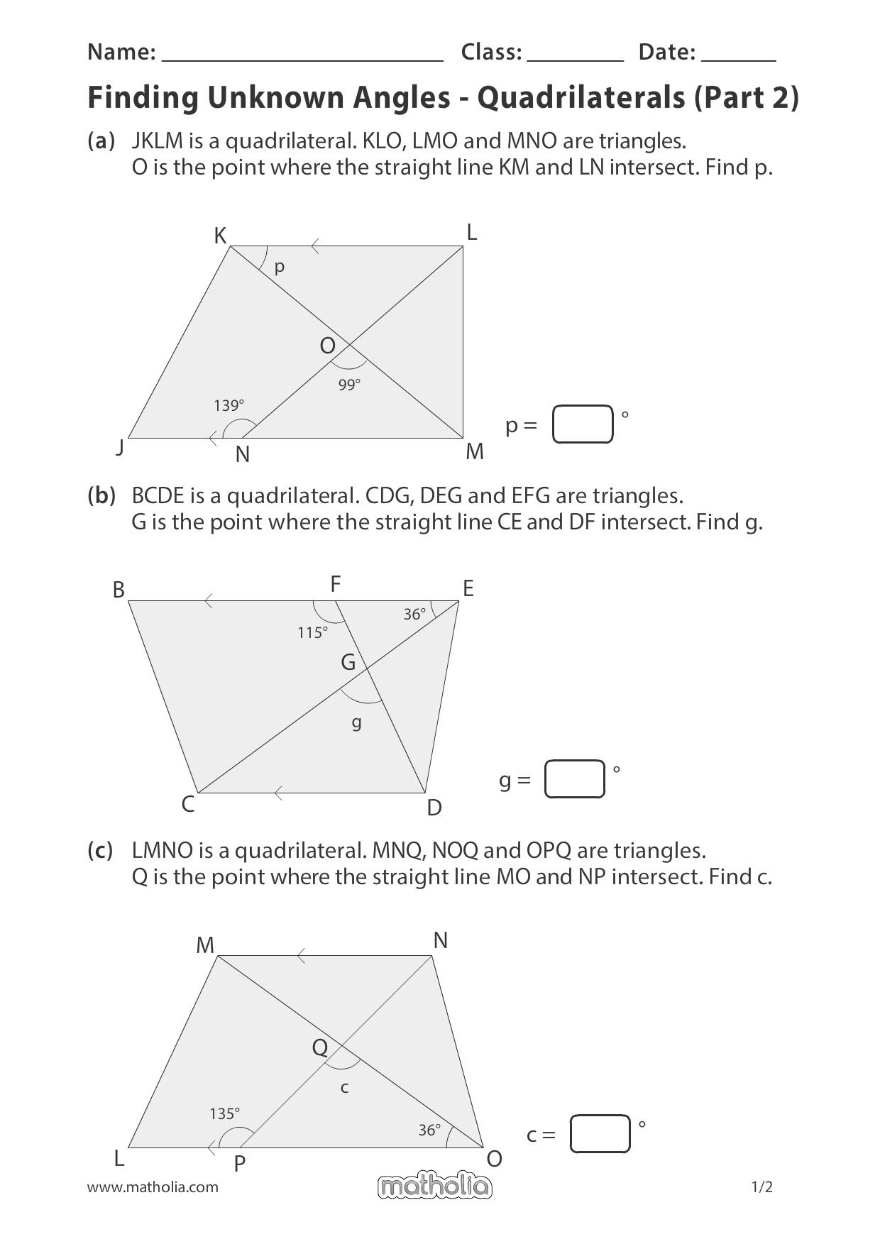 Matholia Printable Worksheet For Grade 6 With Answer Key