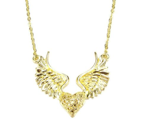 Gold Plated Winged Heart | eBay