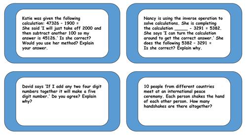 Four Operations Problem Solving Cards | ESL Worksheets | Pinterest ...
