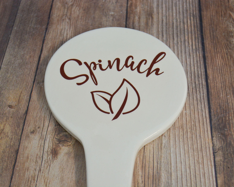 Ceramic Garden Stake - Spinach - Home and Garden - Garden Gift ...