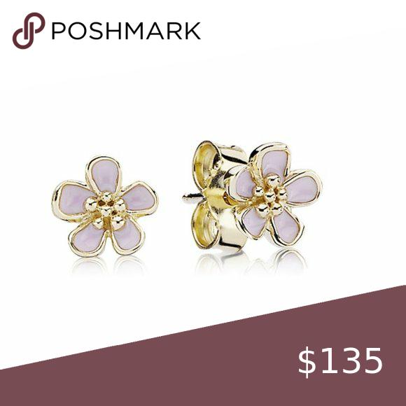 Pandora Pink Cherry Blossom Flower Stud Earrings In 2020 Flower Earrings Studs Pandora Jewelry Earrings Pandora Pink