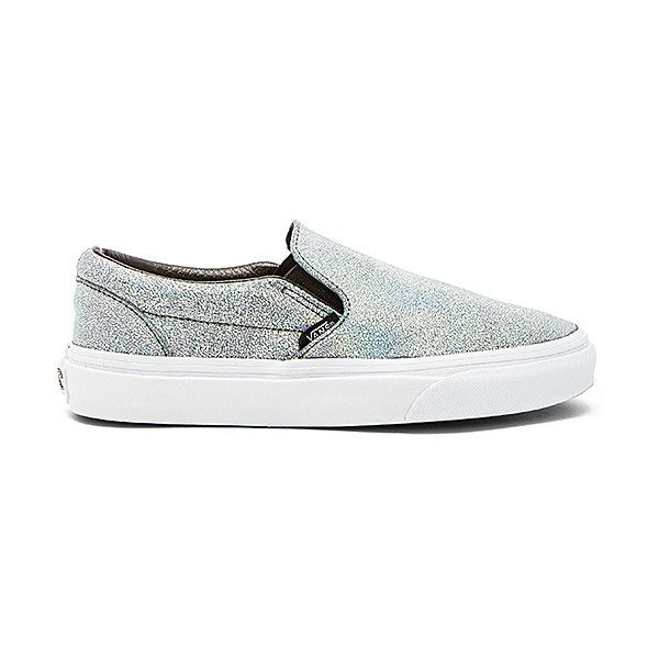 vans matte iridescent slip on