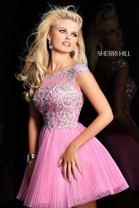 Pink short - Sherri Hill dress. | Sherri Hill Dresses. | Pinterest ...