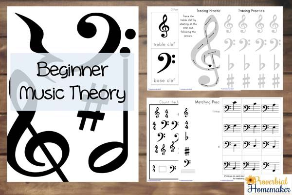 Beginner Music Theory Activities Proverbial Homemaker