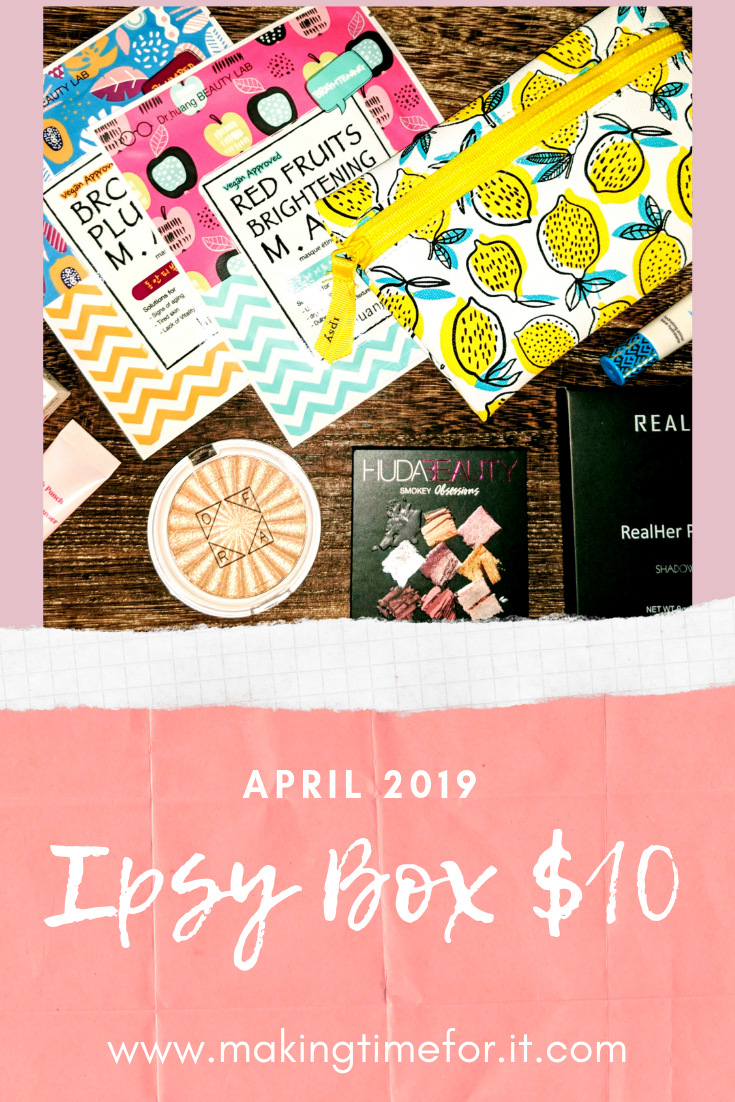 The April 2019 $10 Ipsy box! Check it out plus all the