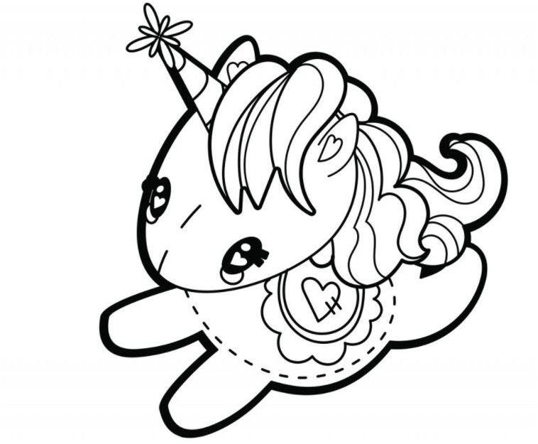 Dorable Unicornio Miserable Para Colorear Ornamento - Ideas Para ...