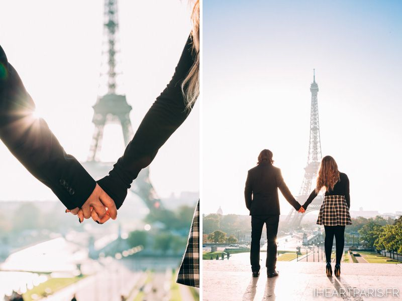 Early morning Fall Mini session in Paris! Sometimes 30 minutes is all you need to capture a magic photo :) It's love in Paris! How beautiful is it to meet a sunrise together by the Eiffel Tower!  #iheartparisfr #photographerinparis #parisphotographer #trocadero #toureiffel #eiffeltower #paris #love