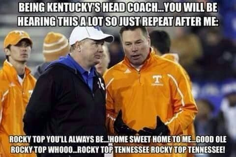 Pin By Karole Potter On Rocky Top Tennessee Football College Football Memes Rocky Top Tennessee