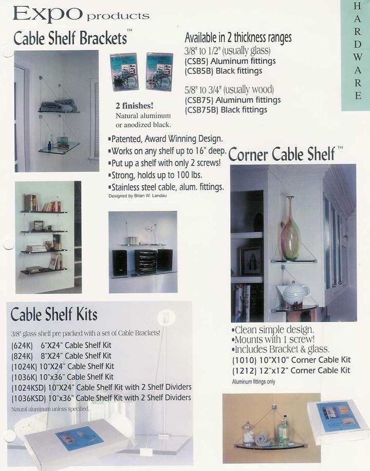 expo design cable shelf brackets kits for glass shelves palmer rh pinterest com