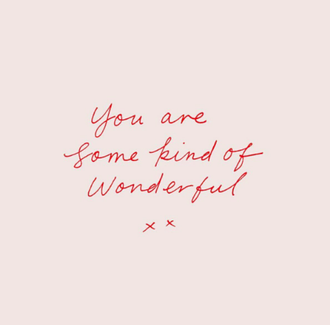 you are some kind of wonderful