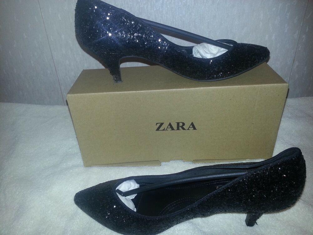 black kitten heel shoes size 5