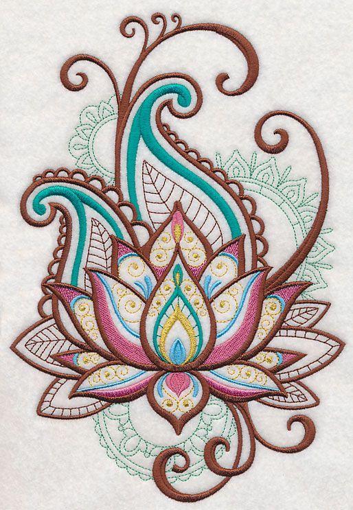 Mehndi Lotus Spray | Henna Ideas | Pinterest | Flor de loto, Flor y ...