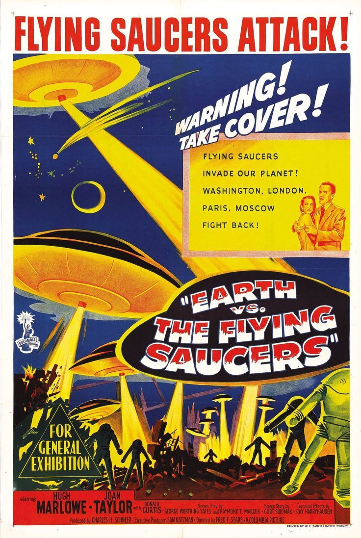 Back in the late fifties and early sixties, the 'Take Cover' warnings seemed all too real.  EARTH VS THE FLYING SAUCERS 1956  https://www.facebook.com/groups/58198980959/