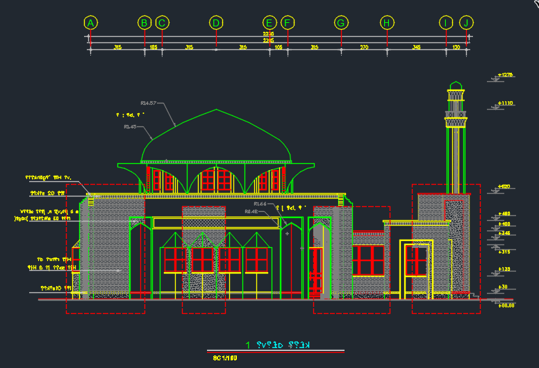 Mosque masjid design plans mosque pinterest mosque for Mosque exterior design