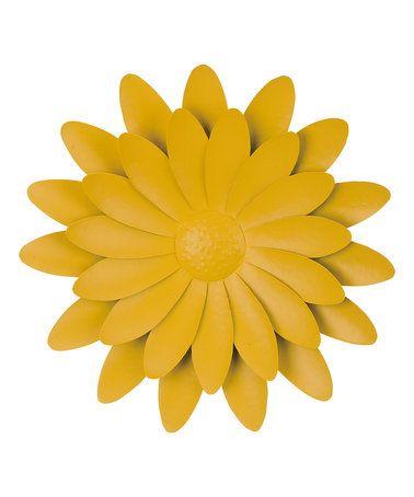 This Yellow Metal Flower Wall Art is perfect! #zulilyfinds   Garden ...