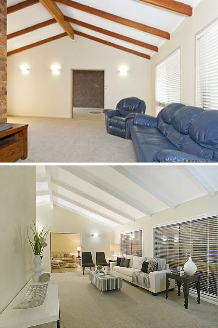 renovated lounge before and after from hotspace consultants rh pinterest com