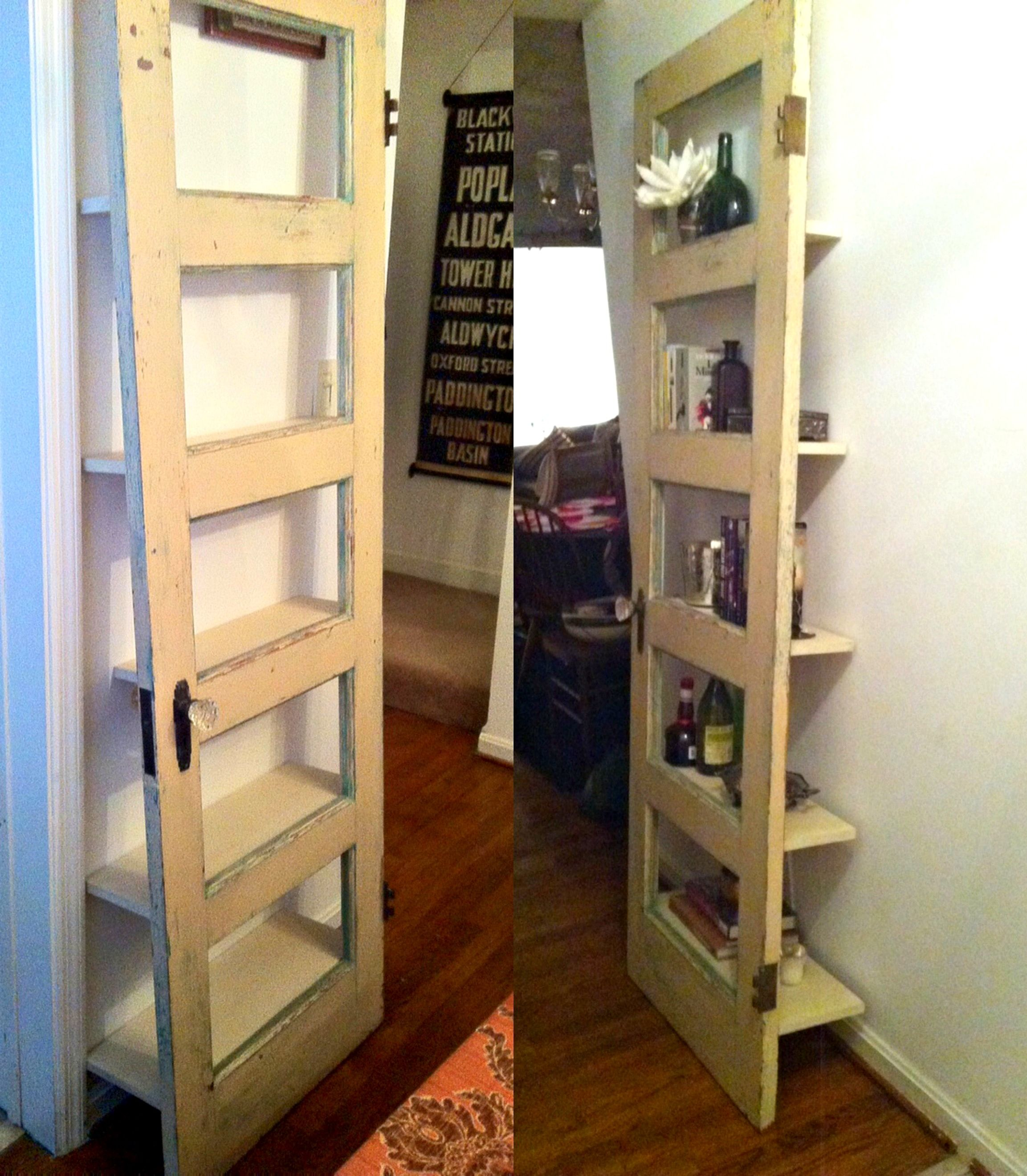 Submitted By Our Very Own Heather This DIY Vintage Bookshelf Is The Definition Of Modern Function With Soul