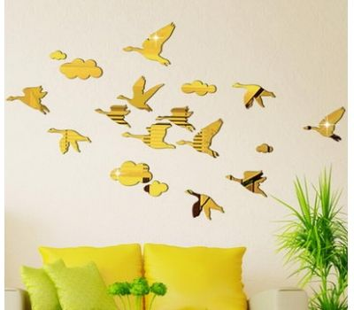 Hot selling acrylic bedroom mirror decorative wall sticker MS-055 ...