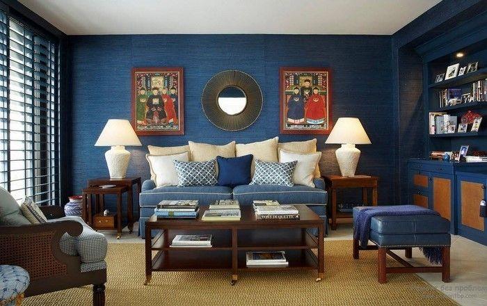Wohnzimmer Farblich Gestalten Blau Eine Wunderschöne Atmosphäre
