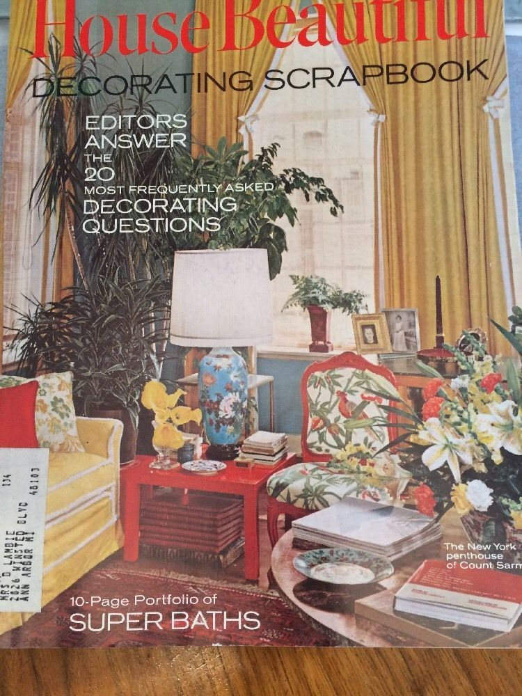 Vintage HOUSE BEAUTIFUL Magazine March 1969 Decorating