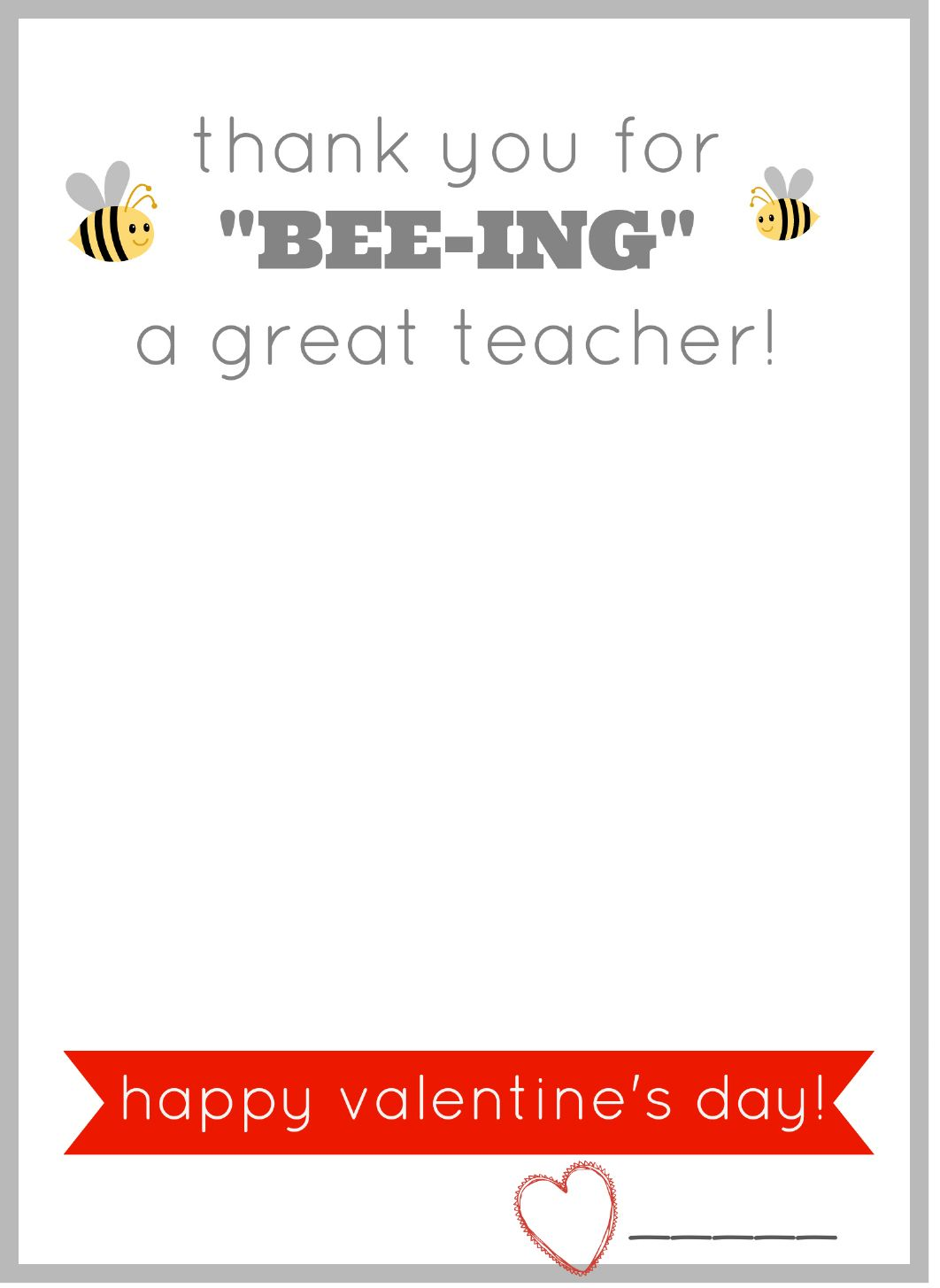 picture regarding Printable Valentine Card for Teacher named Totally free printable valentine card for lecturers. Present them a