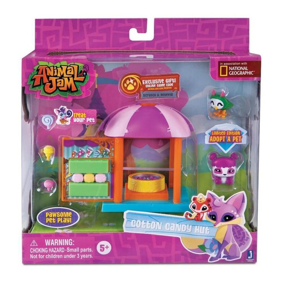 Animal Jam Cotton Candy Hut Playset With Limited Edition Adopt A