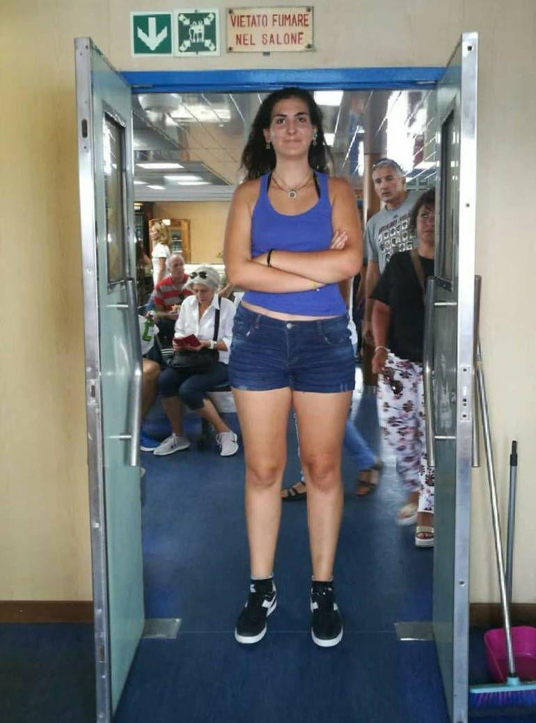 Tall strong girl
