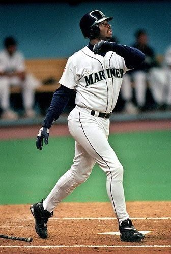4fbaaa7ecf Ken Griffey Jr.-right when u saw that look on his face u knew it was Out of  the park. Best example of an athlete with straighy raw talent.