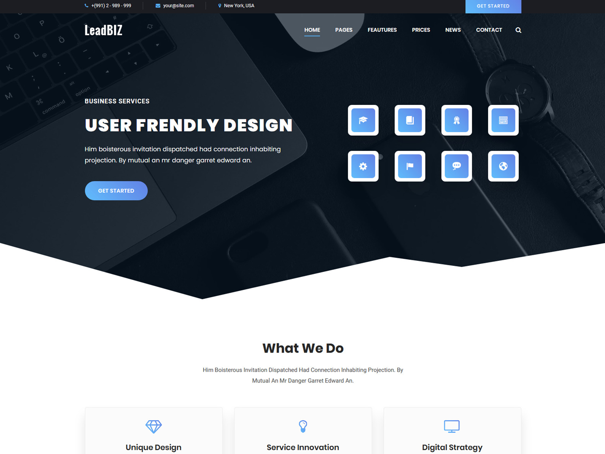 LikeBiz - themeforest net Business HTML Template | Web