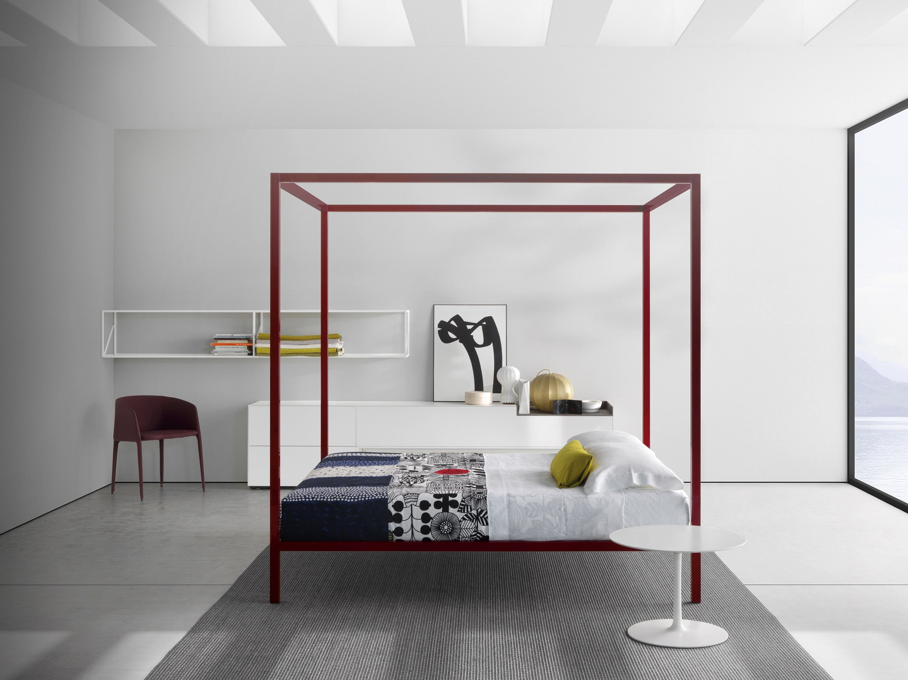 Letto matrimoniale in alluminio a baldacchino ALUMINIUM BED | Letto ...