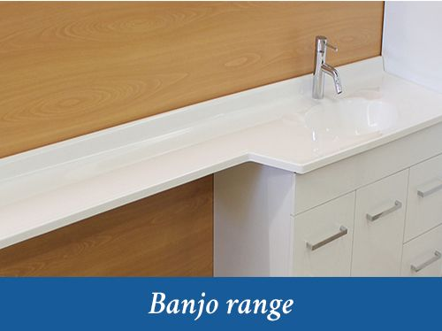 Cultured Marble Banjo Vanity Top