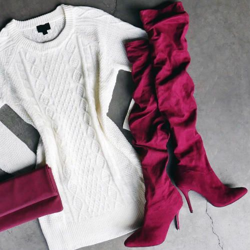 Slouchy Pointy Thigh High Boots