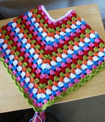 TEJIDOS CROCHET: poncho baby crochet | CROCHET GRANNY SQUARE ...