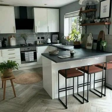 24 Designs De Cuisine De Ferme Moderne Pour Votre Maison De Reve Idee Deco Cuisine Idee Deco Cuisine Ouverte Deco Cuisine Moderne