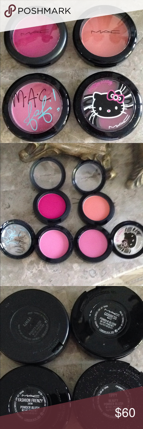 3 Mac limited edition blush NWT Mac cosmetics, Blush