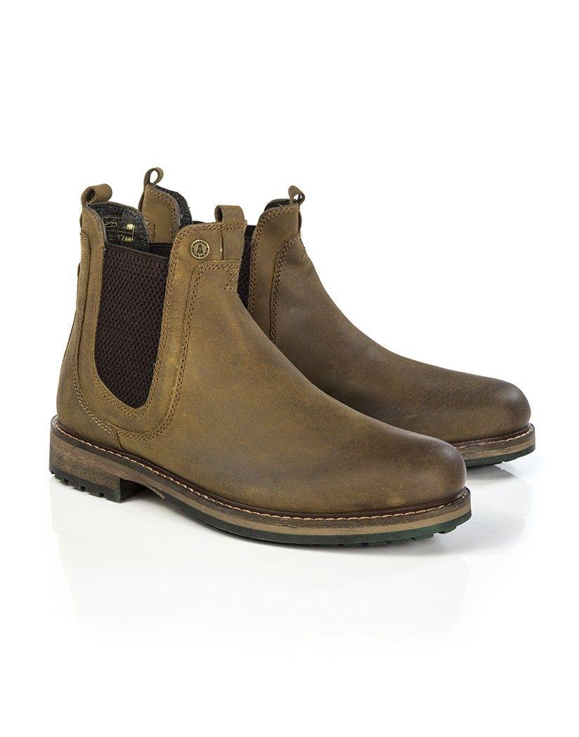 Barbour Men's Cullercoats Chelsea Boots - Dark Camel MFO0287CM71