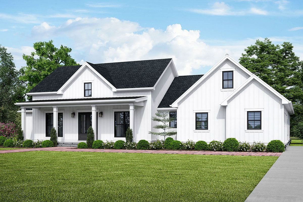Plan 69754am Classic Country House Plan With Optional Bonus Room Above Garage In 2020 Farmhouse Style House Plans Farmhouse Style House Modern Farmhouse Plans