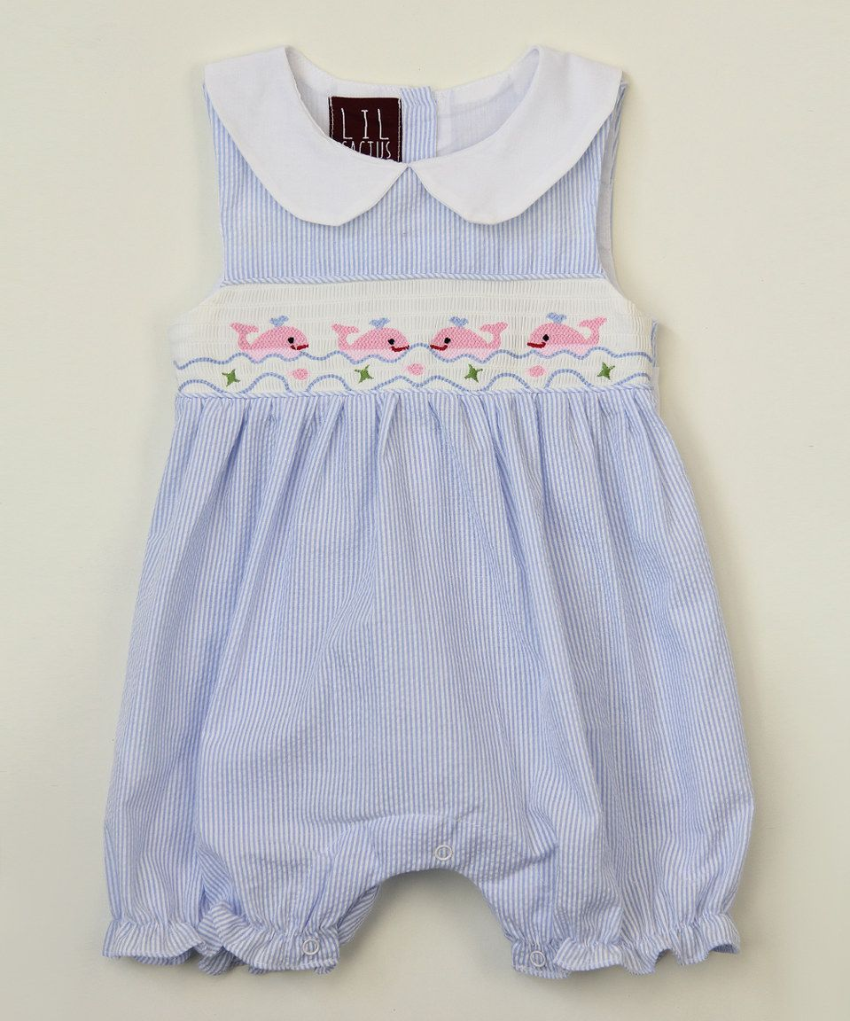 5d2024e12 Light Blue Whale Smocked Romper - Infant & Toddler by Lil Cactus #zulily # zulilyfinds